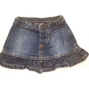 4for$20!! Denim skirt for baby girl size 6m